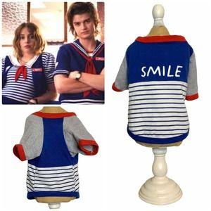 Nautical 'Smile' Doggy Striped Tee